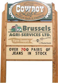 Sign for Brussels Agri Services